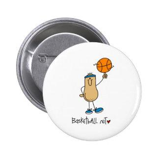 Basketball Nut 6 Cm Round Badge