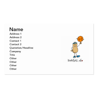 Basketball Nut T-shirts and Gifts Pack Of Standard Business Cards