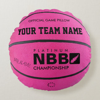 BASKETBALL OFFICIAL GAME PILLOW Pink bl