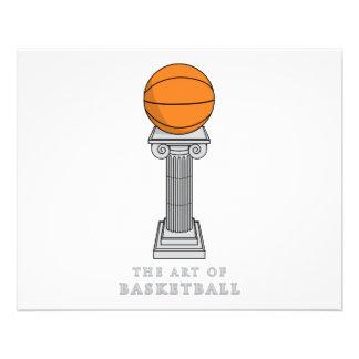 basketball on a pedestal art 11.5 cm x 14 cm flyer