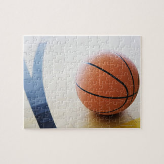 Basketball on court jigsaw puzzle