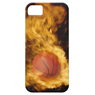 Basketball on fire (digital composite) iPhone 5 cases