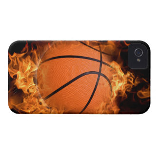 Basketball on fire iPhone 4 case