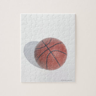 Basketball on white background jigsaw puzzle