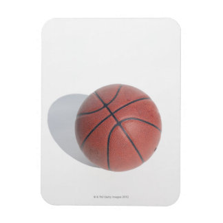 Basketball on white background rectangular photo magnet