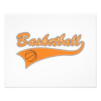 basketball orange text logo 11.5 cm x 14 cm flyer