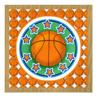 Basketball Party - SRF 13 Cm X 13 Cm Square Invitation Card