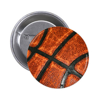 Basketball Pattern 6 Cm Round Badge