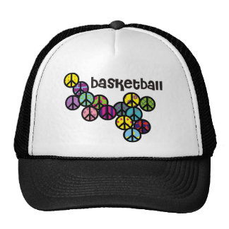 Basketball Peace Signs with Fill Mesh Hats