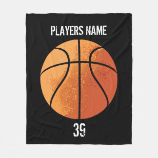 Basketball (Personalizable) Fleece Blanket