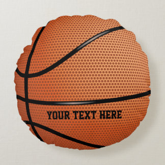 Basketball Personalized Sports Round Cushion
