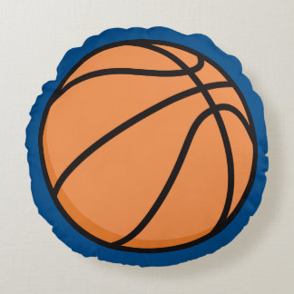 Basketball pillow - round with blue background