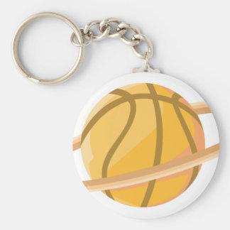Basketball Planet Basic Round Button Key Ring