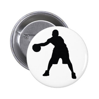 Basketball Player 6 Cm Round Badge