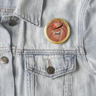Basketball Player 6 Cm Round Badge