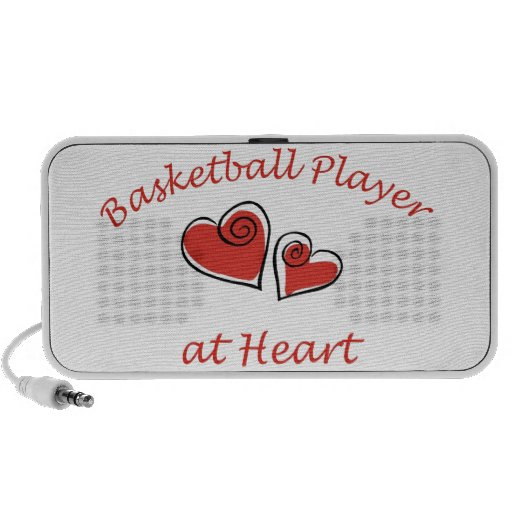 Basketball Player at Heart Notebook Speaker