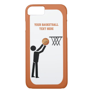 Basketball player black icon with ball custom iPhone 8/7 case