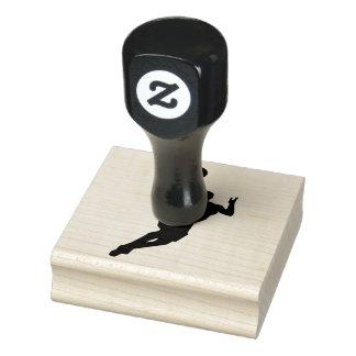 Basketball Player Design Wooden Stamp