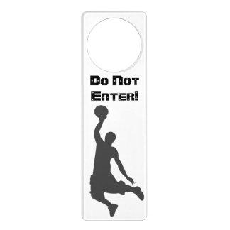 Basketball Player: Do Not Enter! Door Hanger