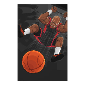 Basketball Player Doing Slam Dunk 14 Cm X 21.5 Cm Flyer