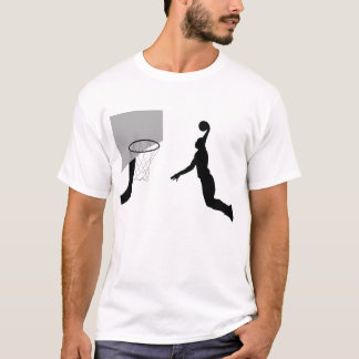 Basketball player dunking T-shirt