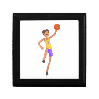Basketball Player Jumping Action Sticker Gift Box