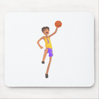 Basketball Player Jumping Action Sticker Mouse Pad