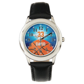 Basketball Player Number   Funny Personalizable Watch