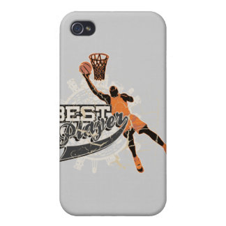 Basketball Player Orange and Gray iPhone 4 Covers