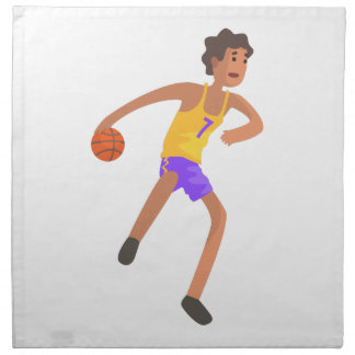 Basketball Player Passing The Ball Action Sticker Napkin