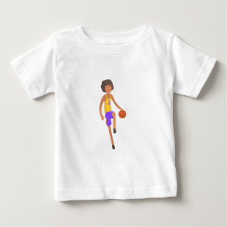 Basketball Player Running With Ball Action Sticker Baby T-Shirt