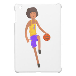 Basketball Player Running With Ball Action Sticker Cover For The iPad Mini