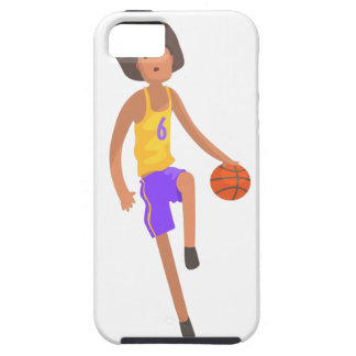 Basketball Player Running With Ball Action Sticker iPhone 5 Cases