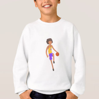 Basketball Player Running With Ball Action Sticker Sweatshirt