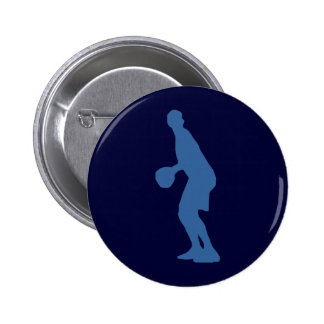 Basketball Player Silhouette Button Buttons