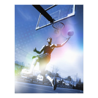 Basketball Player Slam Dunk 21.5 Cm X 28 Cm Flyer