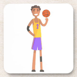 Basketball Player Turning Ball On A Finger Action Coaster