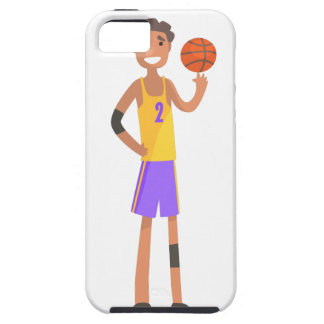 Basketball Player Turning Ball On A Finger Action iPhone 5 Cover