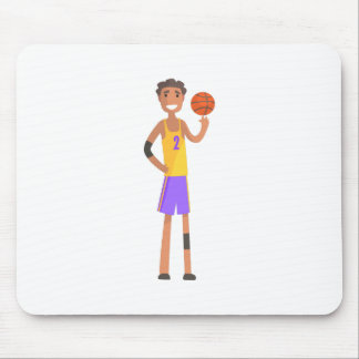 Basketball Player Turning Ball On A Finger Action Mouse Pad