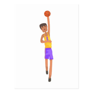 Basketball Player With The Ball Action Sticker Postcard