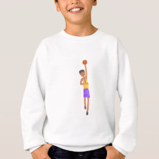 Basketball Player With The Ball Action Sticker Sweatshirt
