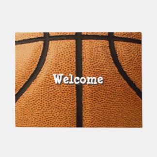 Basketball Print Pattern Background Doormat