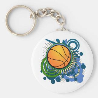 Basketball Punk Circles Blue Keychain