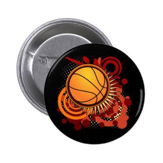 Basketball Punk Circles Red Button