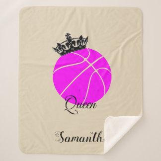 Basketball queen sherpa blanket