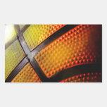 Basketball Rectangular Stickers
