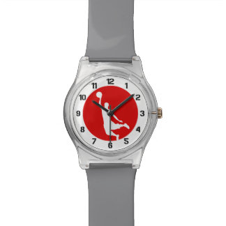 Basketball Red Number Watch