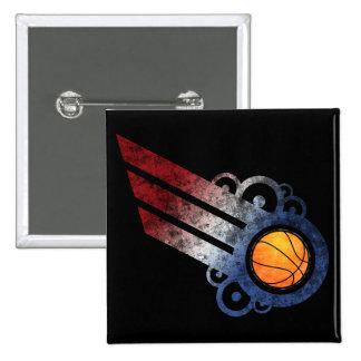 Basketball Retro Stripe USA Button