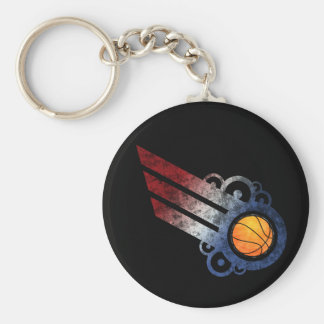 Basketball Retro Stripe USA Keychain