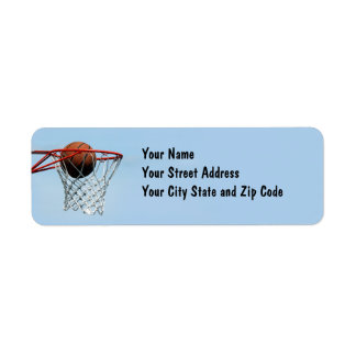 Basketball. Return Address Label